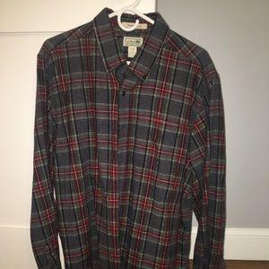 LL Bean flannel shirt, large
